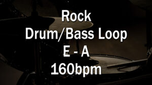 Rock Drum/Bass Loop E-A 160bpm