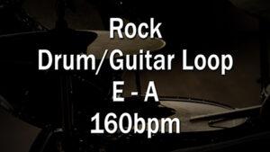 Rock Drum/Guitar Loop E-A 160bpm